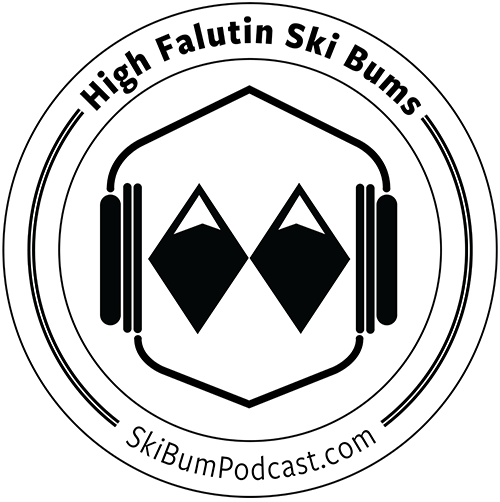 High Falutin Ski Bum Podcast logo