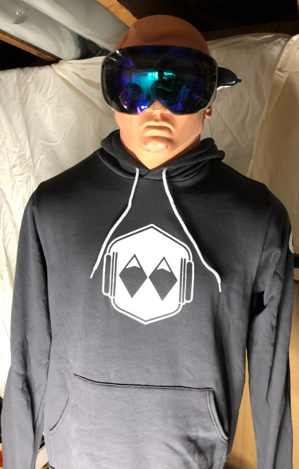 white logo hoody